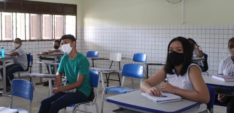 Retorno das aulas presenciais da Escola Municipal Senador Jessé Pinto Freire